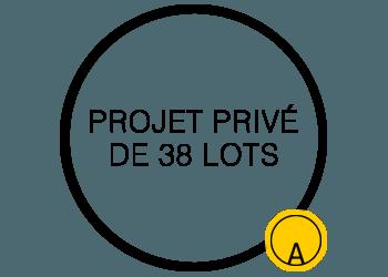 Projet privé de 38 lots