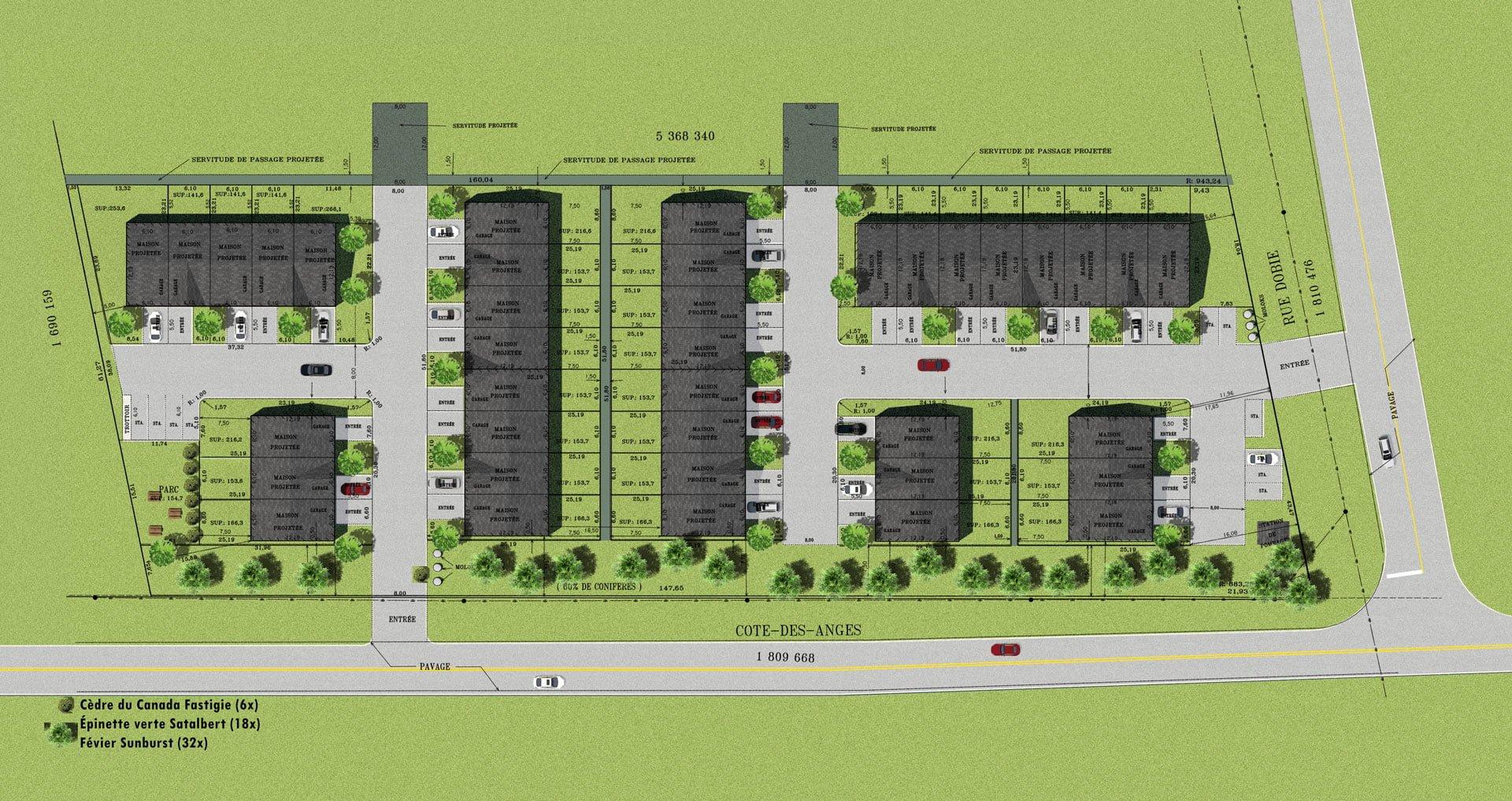 Plans des habitations du Domaine Ancestra