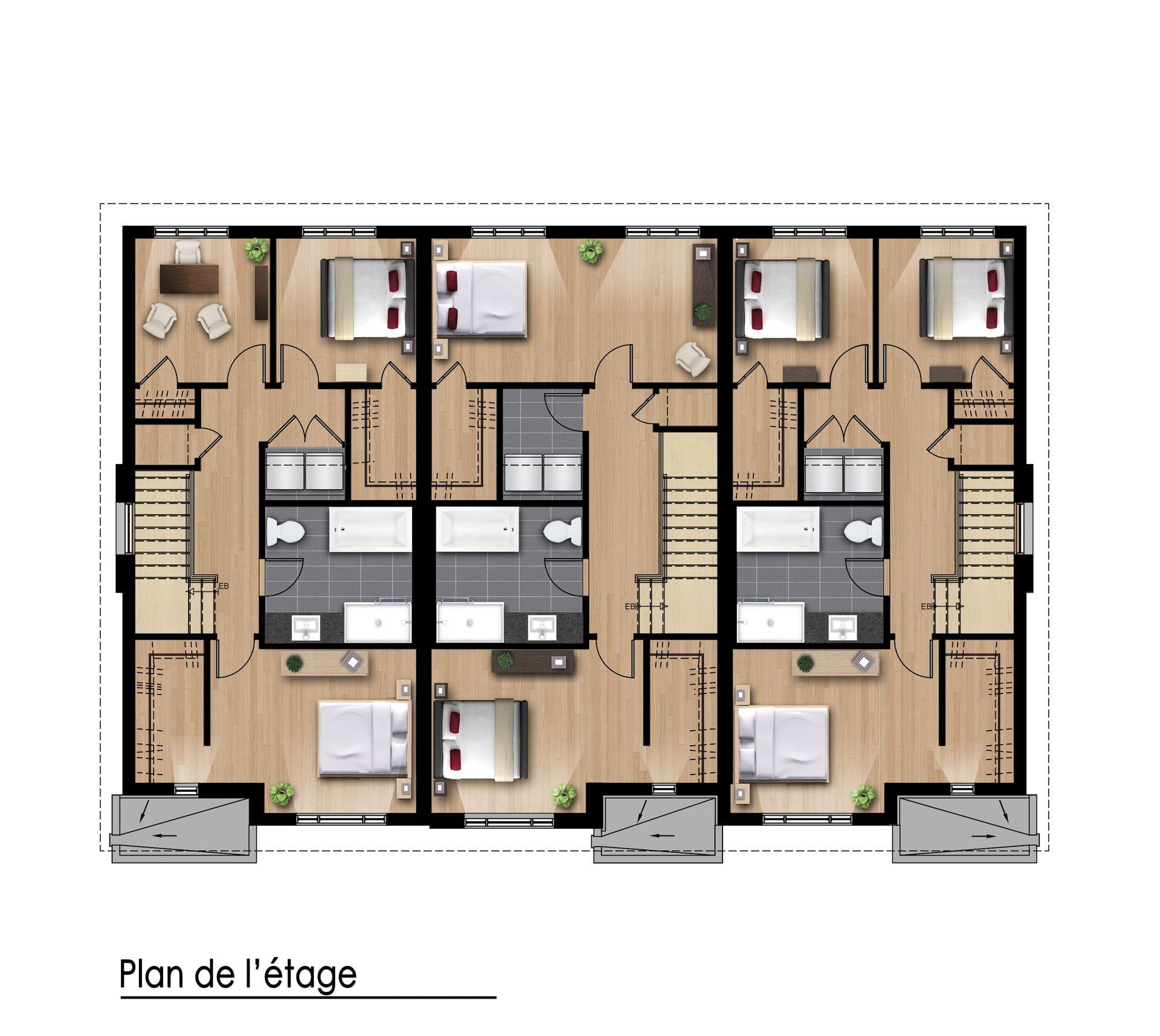 Plan de l'étage